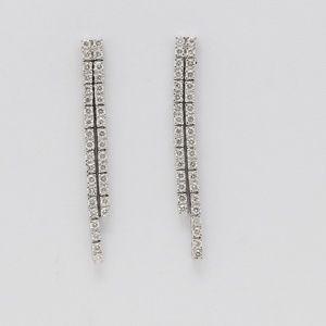 18K Diamond Drop Earrings 0.79 Ct C19000287